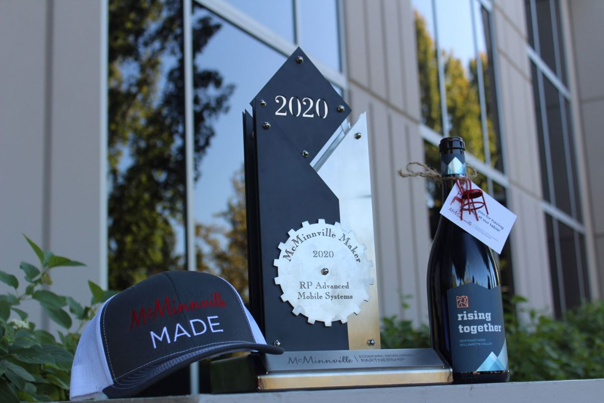 Awards, McMinnville Made Hat & Rising Together Wine
