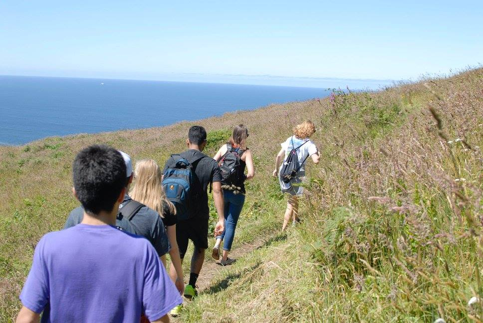WORKS Interns hike up Cascade Head on the weekend