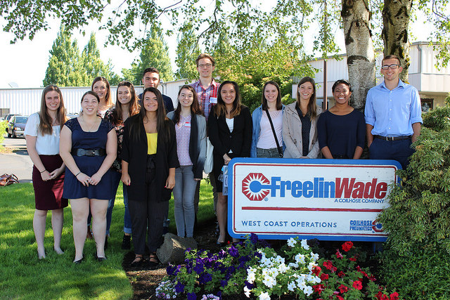 A photo of the 2017 cohort in the McMinnville WORKS Internship Program
