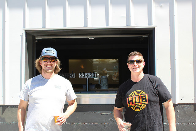 Allegory Brewing Owner David Sanguinetti and Head Brewer Charlie Van Meter