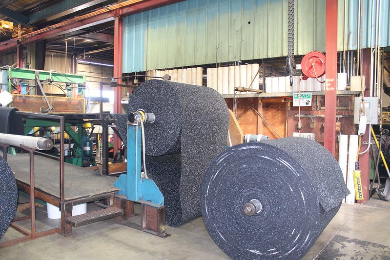 Rolls of Rubber Matting