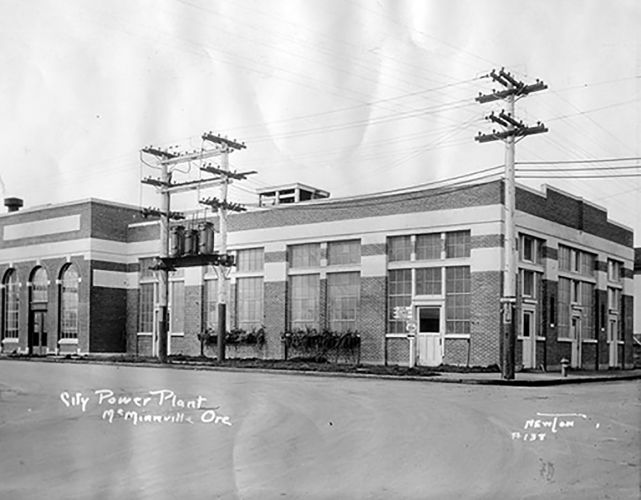 McMinnville's Old City Power Plant, constructed in 1926, now holds Elizabeth Chambers Cellar