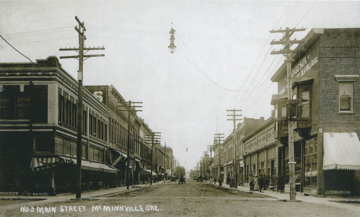 A historic picture of McMinnville