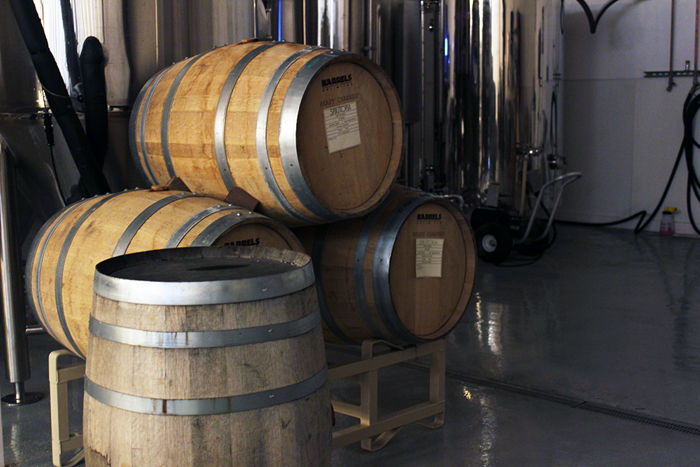 Evasion is aging their beer in various type of barrels, including wine and whiskey, to create a unique flavor profile