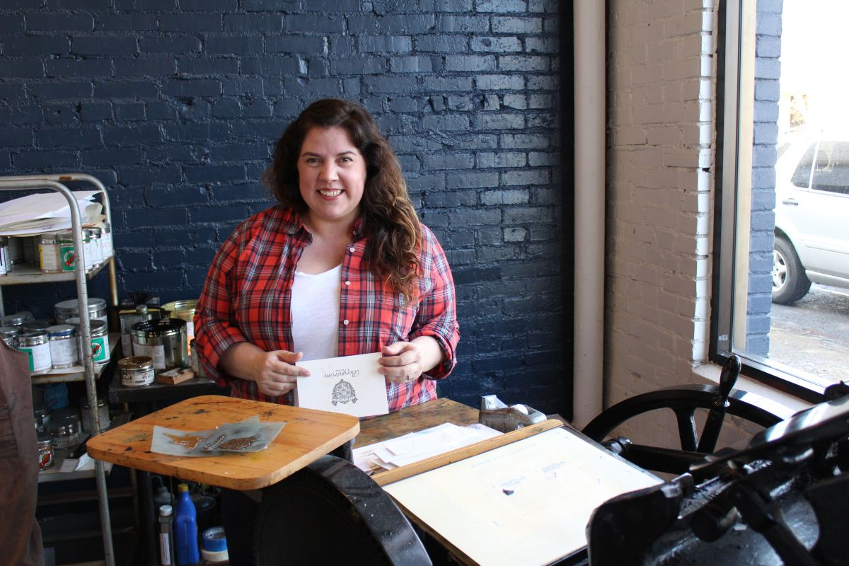 Chelsey Nichol of Type A Press in McMinnville, Oregon