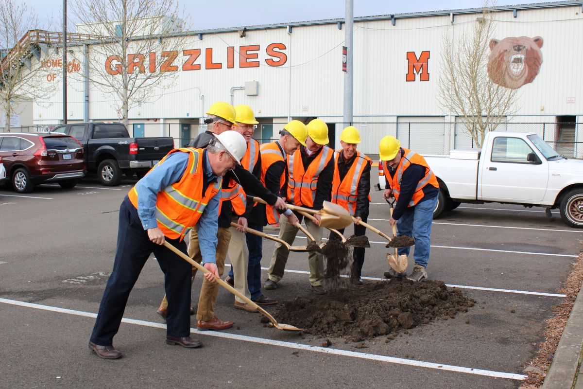 School board members break ground on MHS's new CTC building
