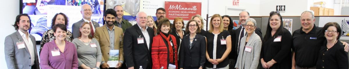 Business and community leaders came together to speak with Governor Kate Brown and Representative Ron Noble
