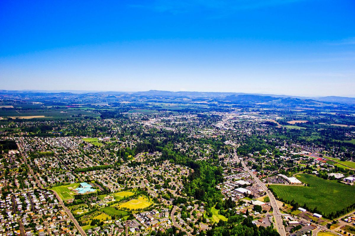 McMinnville from above