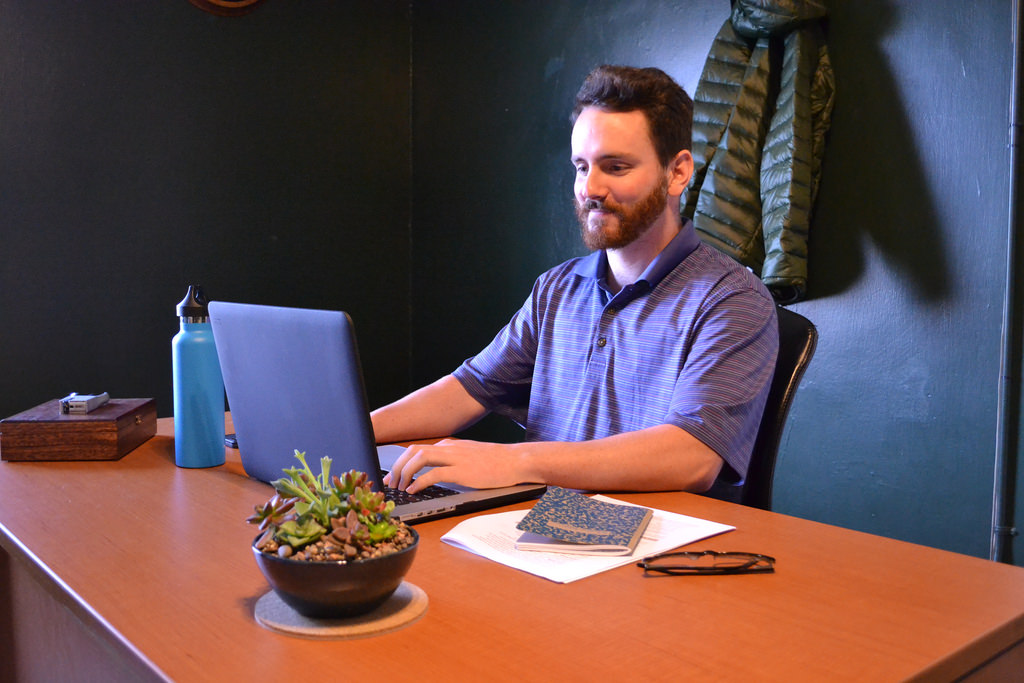 Predicta's first Oregon hire, Matt Rappleyea, goes to work in Predicta's McMinnville office.