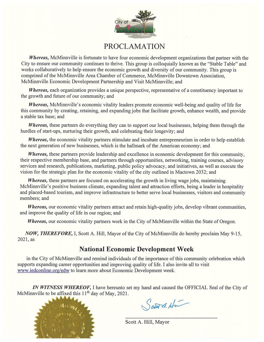 City Proclamation for MacDevWeek