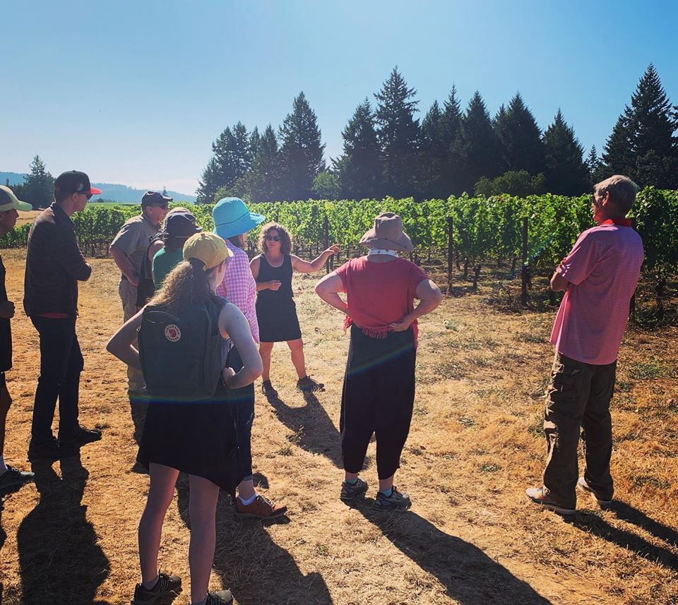 Linfield Students Tour Soter Vineyard