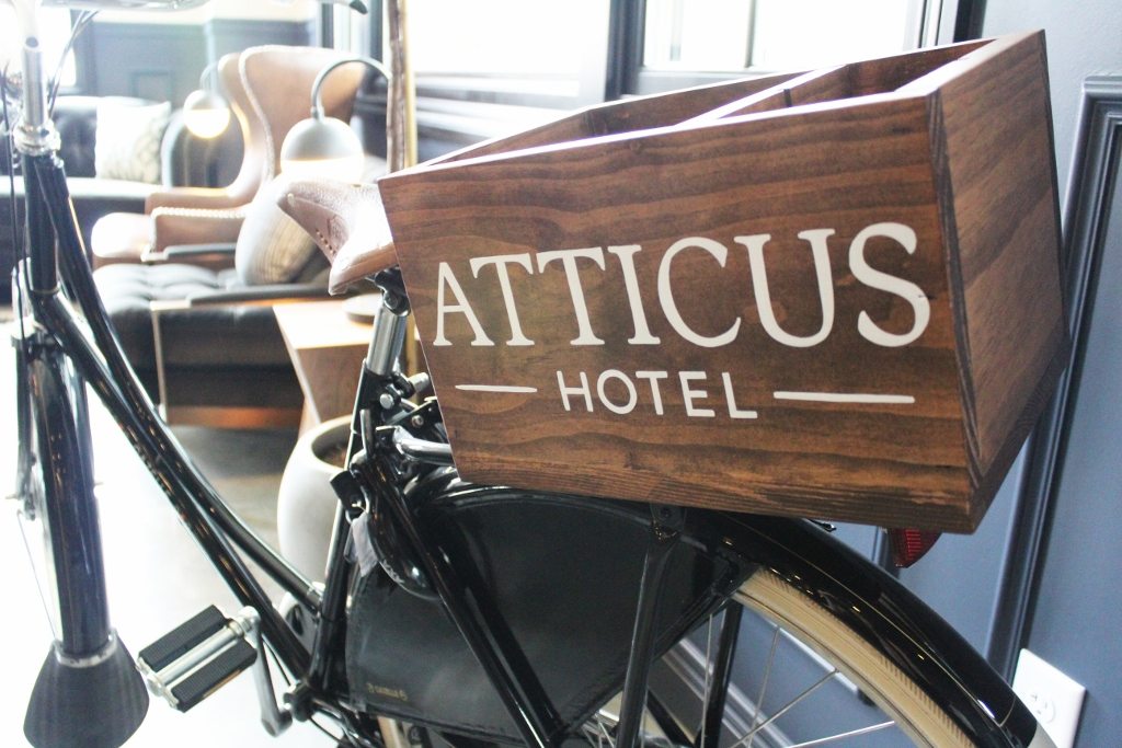 Bikes with handmade boxes at the Atticus