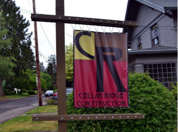 Cellar Ridge Construction Sign