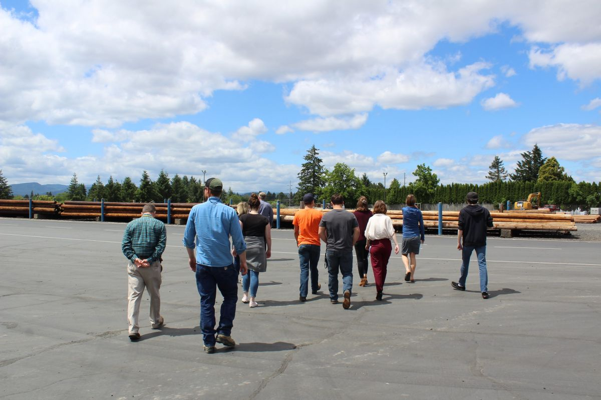 Interns toured McMinnville Water & Light to learn about different career paths