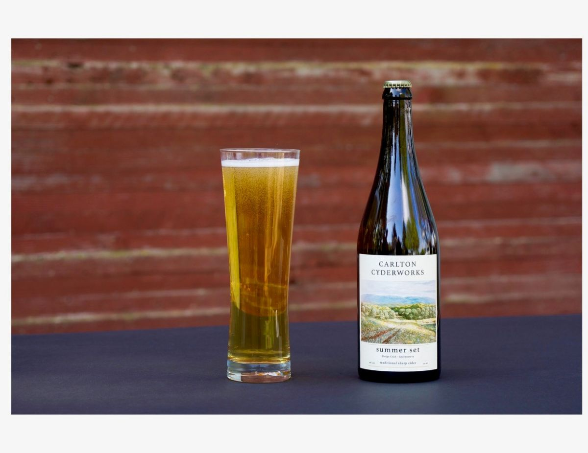 Carlton Cyderworks' award-winning cider, Summer Set. Photo Courtesy of Carlton Cyderworks