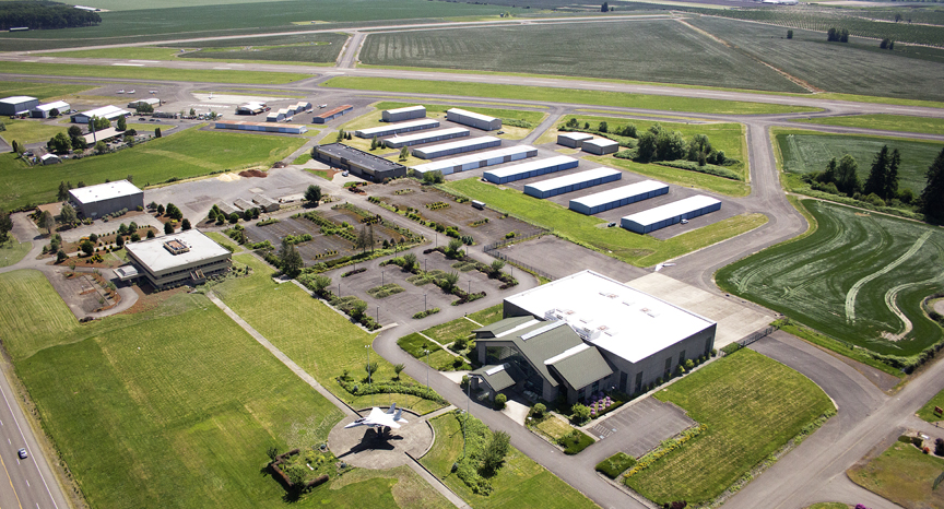 3800, former Evergreen Corporate Campus and McMinnville Municpal Airport