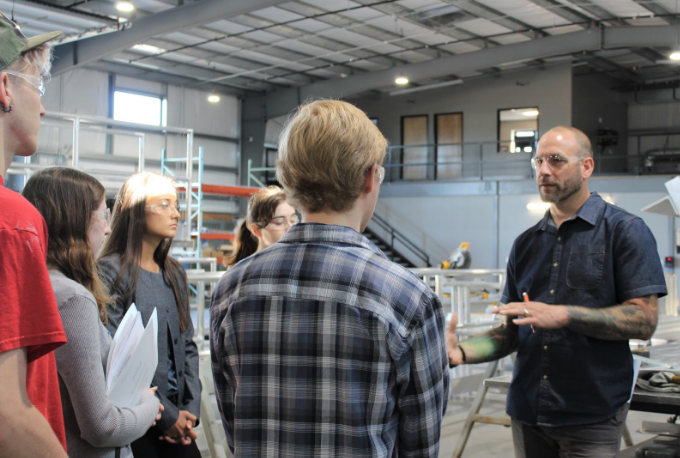 Leading by Example: WORKS Interns tour Solid Form Fabrication with Owner/President Deven Paolo