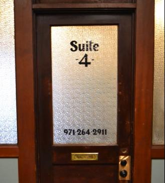 Suite 4's front door